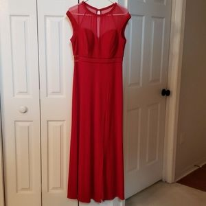 NIGHTWAY evening gown dress red LIKE NEW!
